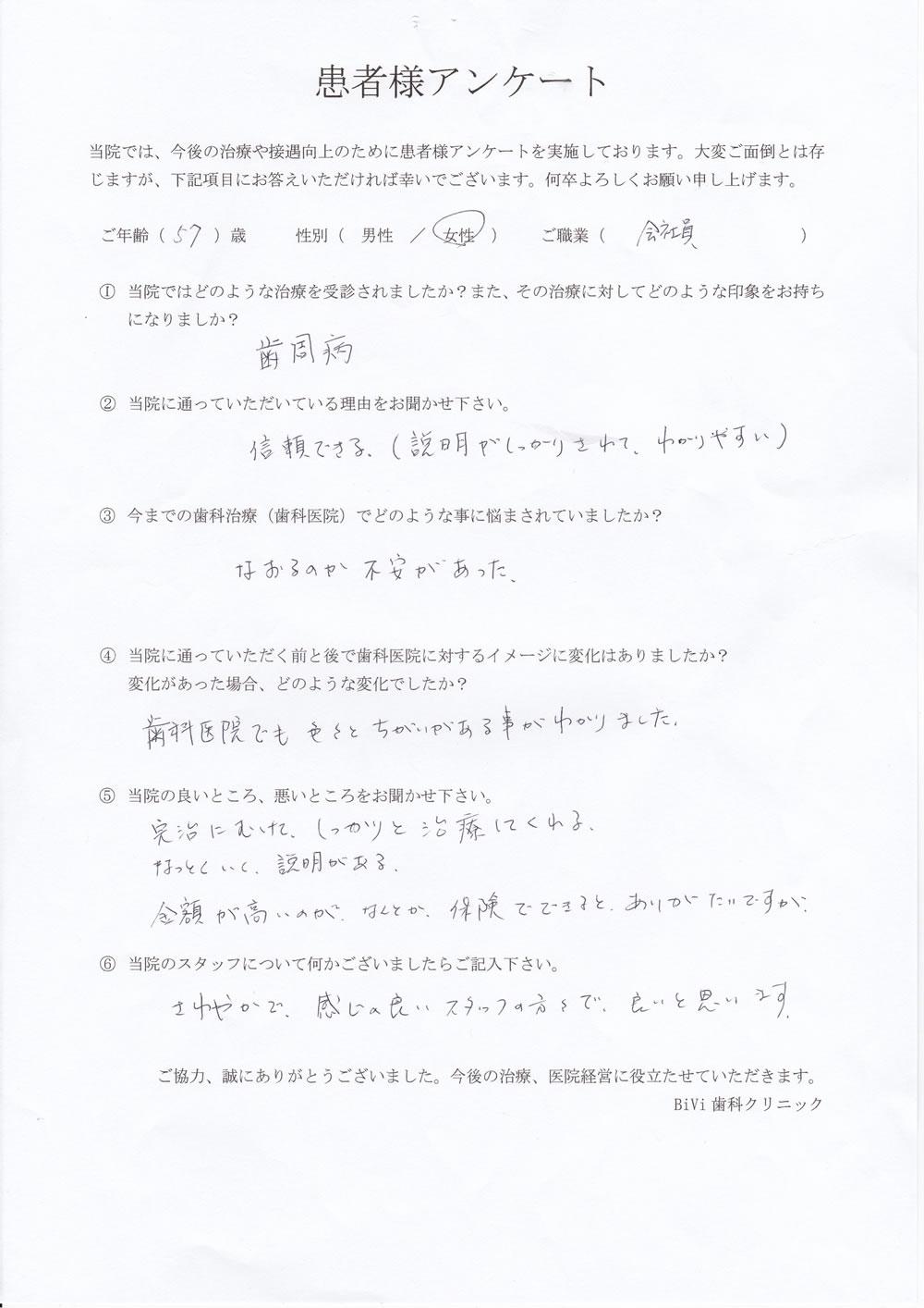 BiVi歯科クリニック八潮の口コミアンケート4