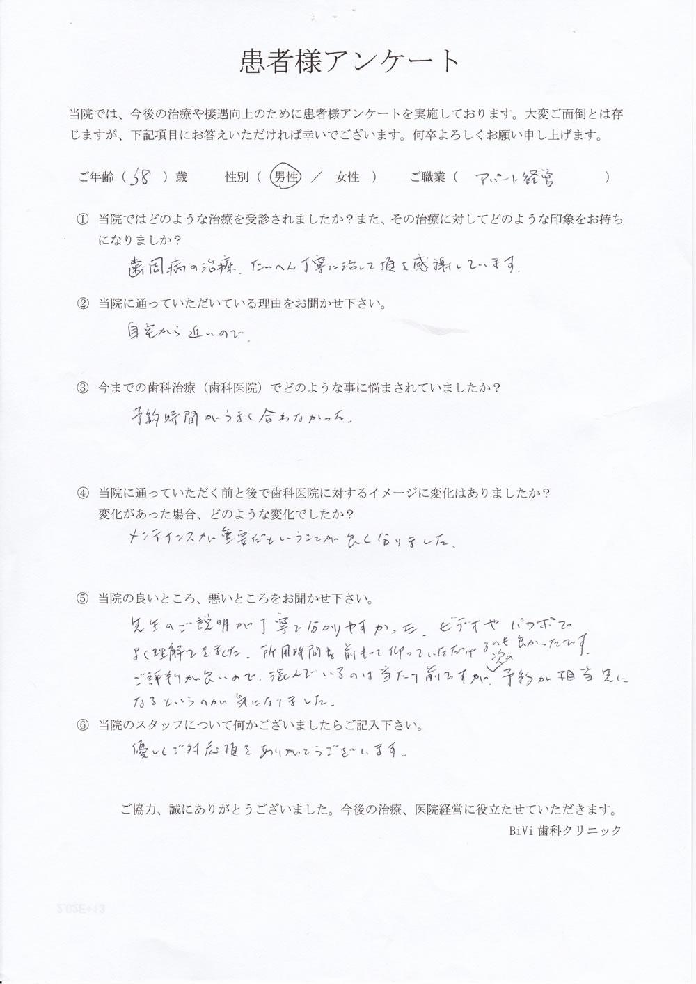 BiVi歯科クリニック八潮の口コミアンケート6
