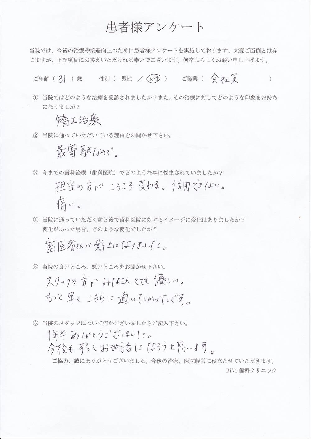 BiVi歯科クリニック八潮の口コミアンケート11